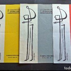 Cine: 3 PROGRAMAS DEL IV CONGRESO INT. CINEMATOGRÁFICO. BARCELONA 1962, IV SEMANA DEL CINE EN COLOR. Lote 128804967