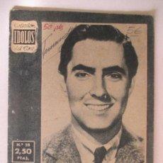 Cine: COLECCIÓN ÍDOLOS DEL CINE. AÑO I NÚMERO 25. 1958. TYRONE POWER. 16 X 12 CM.. Lote 128834043