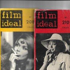 Cine: FILM IDEAL LOTE DE 2 LIBROS DEL AÑO 1969 SON Nº 208 Y 210. SE VENDE SUELTOS A 11 €. UNIDAD VER FOTOS. Lote 129687503