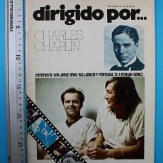 Cine: DIRIGIDO POR..CHARLES CHAPLIN Nº 33 MAY 1976 29X22 CM,JORGE GRAU,VALLADOLID PORTUGAL 76,FERNAN GOMEZ. Lote 130097803