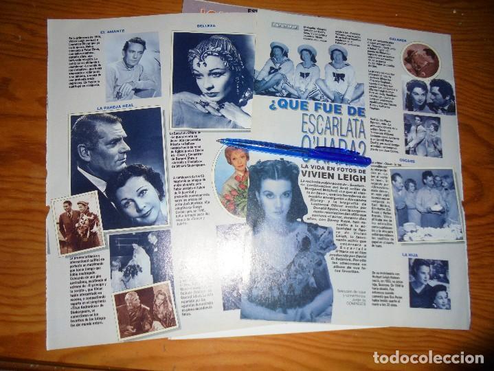 RECORTE PRENSA : REPORTAJE : VIVIEN LEIGH. FOTOGRAMAS, NVBRE 1991 (Cine - Revistas - Fotogramas)