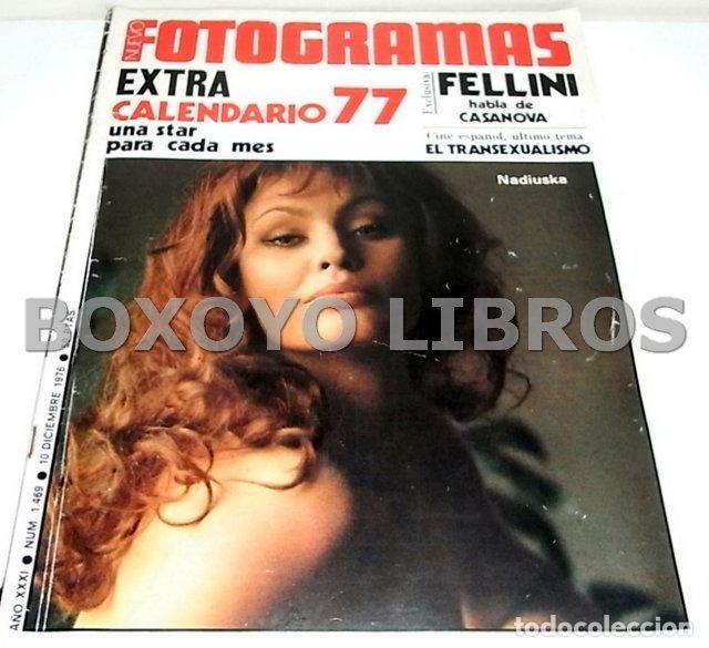 REVISTA NUEVO FOTOGRAMAS. AÑO XXXI. NÚM. 1469. 10 DICIEMBRE 1976. EXTRA. CALENDARIO 77. UNA STAR PAR (Cine - Revistas - Fotogramas)