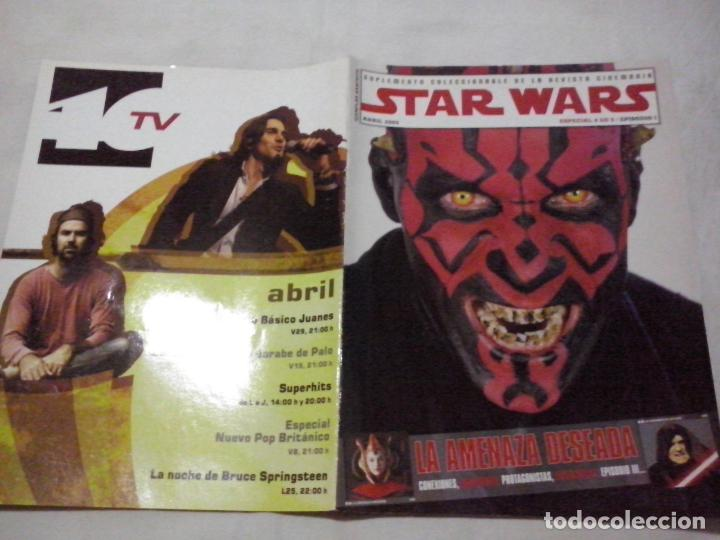 TEBEOS Y COMICS:COLECCIONABLE REVISTA CINEMANIA STAR WARS. EPISODIO I. ABRIL 2005. ESPECIAL (ABLN) (Cine - Revistas - Cinemanía)