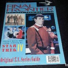 Cine: STAR TREK MAGAZINE FINAL FRONTIER Nº 4 0CTUBRE 1992 BUEN ESTADO. Lote 130600874