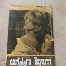 Cine: CARTELERA BAYARRI PORTADA BRIGITTE BARDOT 1970. Lote 130704754