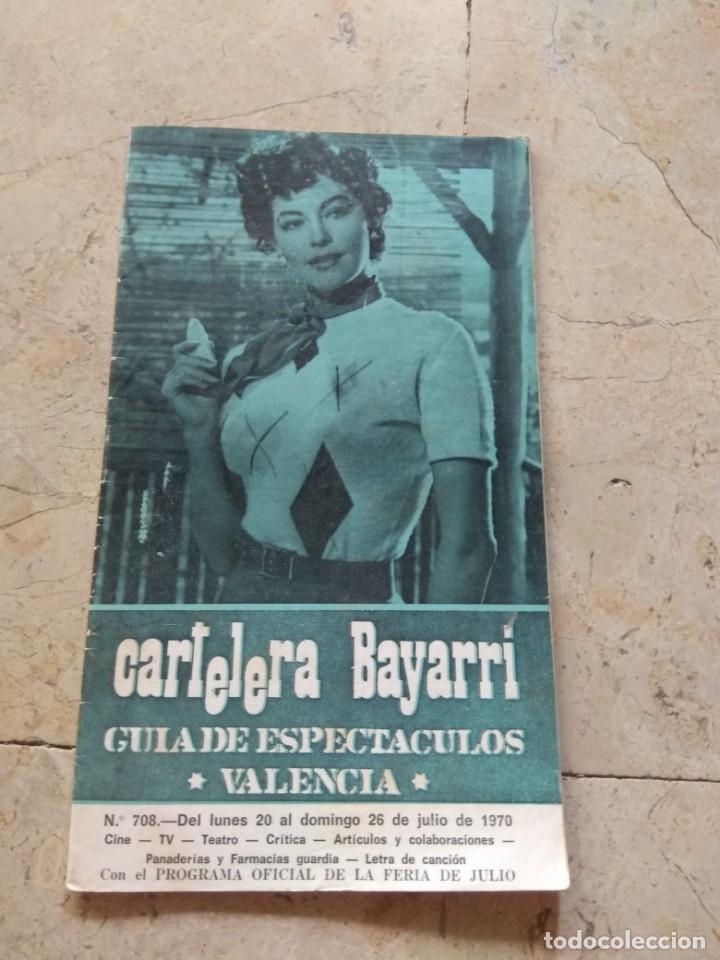 CARTELERA BAYARRI PORTADA AVA GARDNER 1970 (Cine - Revistas - Otros)