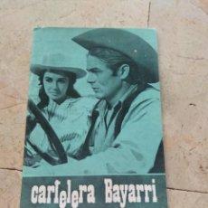 Cine: CARTELERA BAYARRI PORTADA JAMES DEAN Y ELISABETH TAYLOR 1970. Lote 130709449