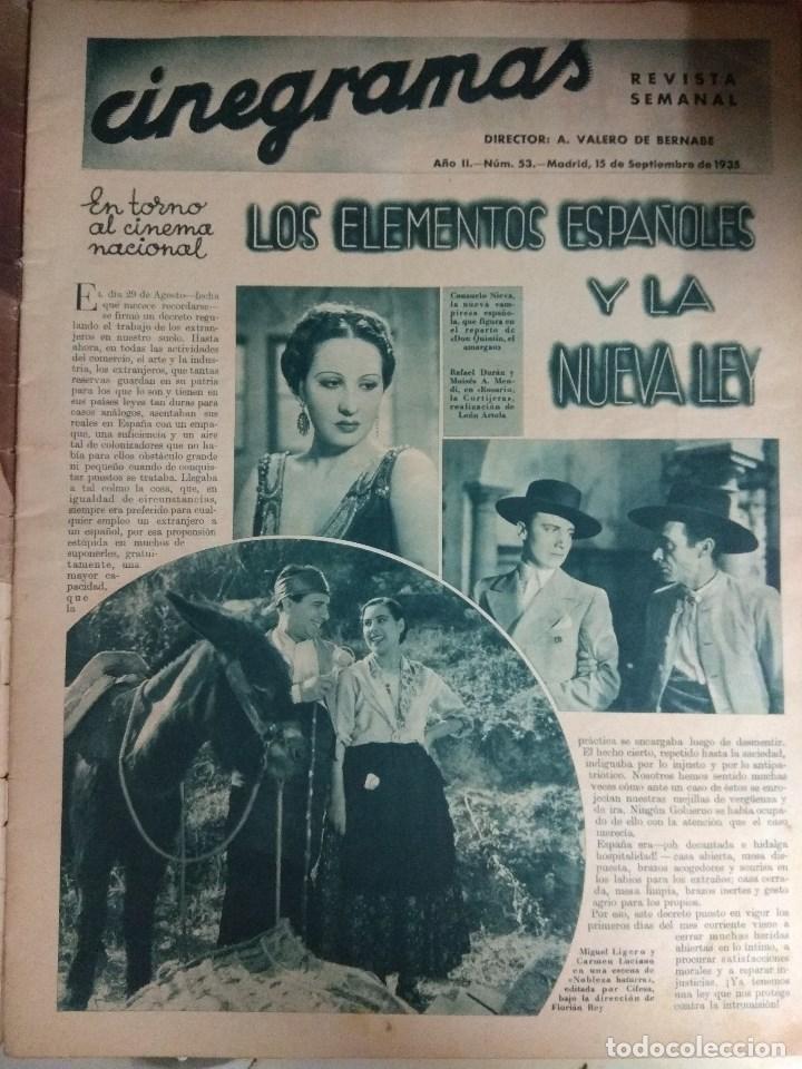 Cine: Revista CINEGRAMAS nº 53 del 15/05/1935 . En portada Miriam Hopkins - Foto 7 - 130806804