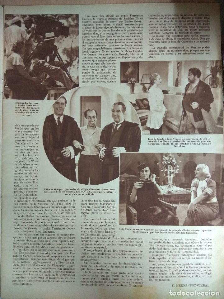 Cine: Revista CINEGRAMAS nº 49 del 18/08/1935 . En portada Margaret Sultavan - Foto 3 - 130807376