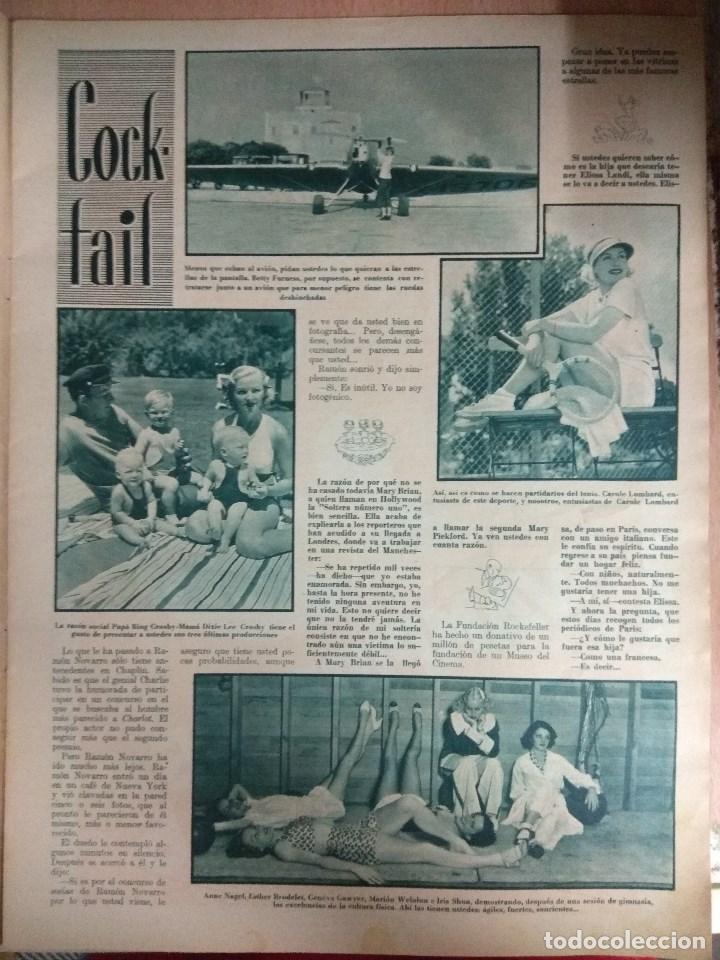 Cine: Revista CINEGRAMAS nº 49 del 18/08/1935 . En portada Margaret Sultavan - Foto 9 - 130807376