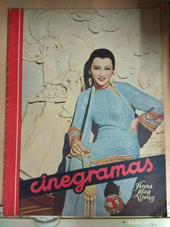 REVISTA CINEGRAMAS Nº 27 DEL 17/03/1935 . EN PORTADA ANNA MAY WONG (Cine - Revistas - Cinegramas)