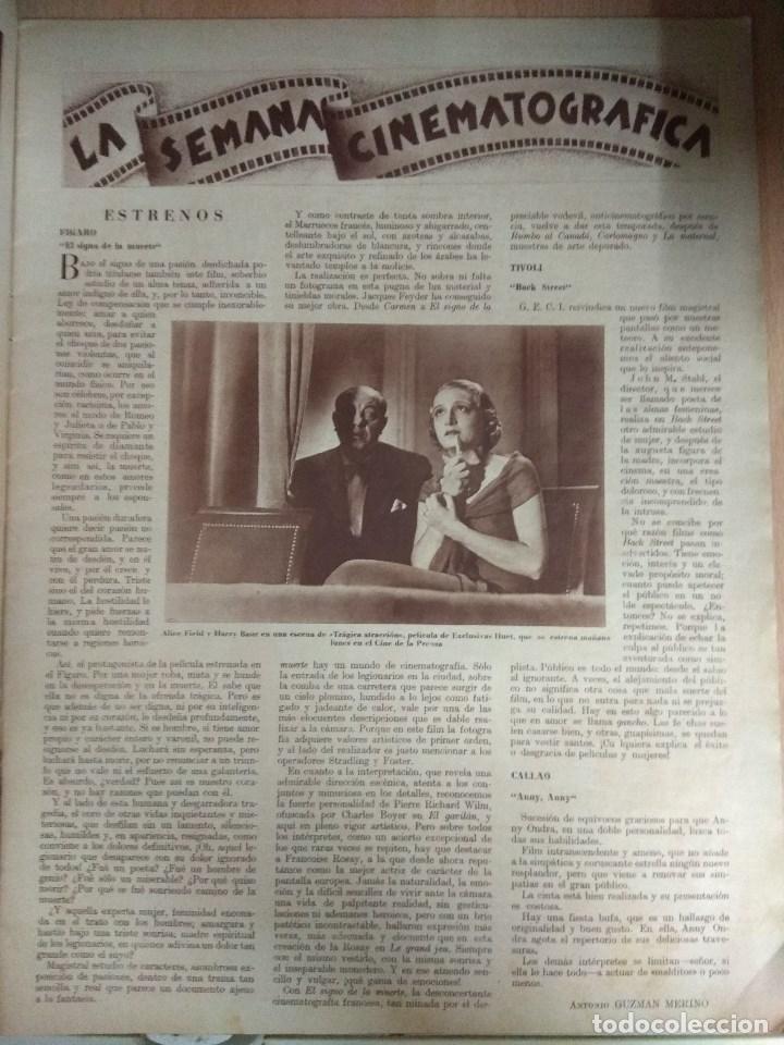 Cine: Revista CINEGRAMAS nº 27 del 17/03/1935 . En portada Anna May Wong - Foto 3 - 130807740