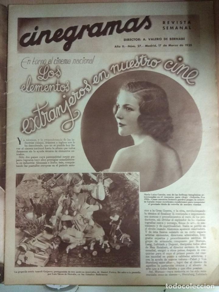 Cine: Revista CINEGRAMAS nº 27 del 17/03/1935 . En portada Anna May Wong - Foto 5 - 130807740