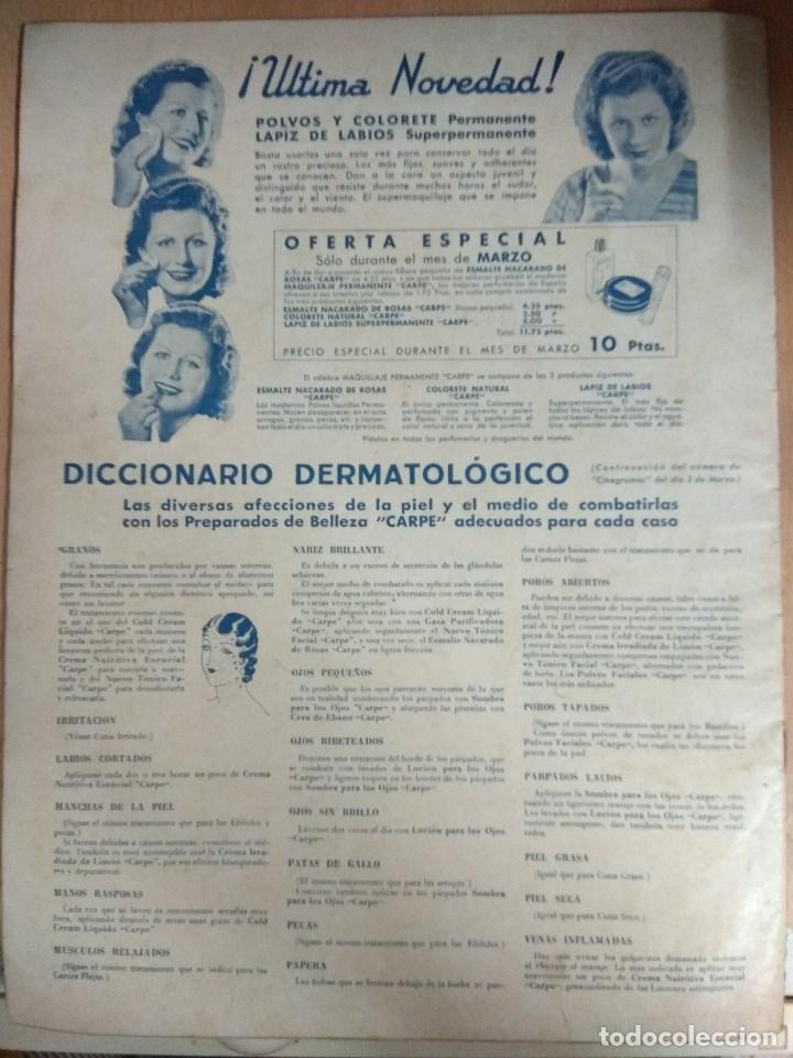 Cine: Revista CINEGRAMAS nº 27 del 17/03/1935 . En portada Anna May Wong - Foto 10 - 130807740