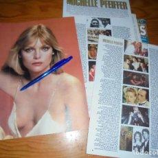 Cine: RECORTE PRENSA : ALBUM : MICHELLE PFEIFFER. FOTOGRAMAS, MAYO 1990. Lote 130835284
