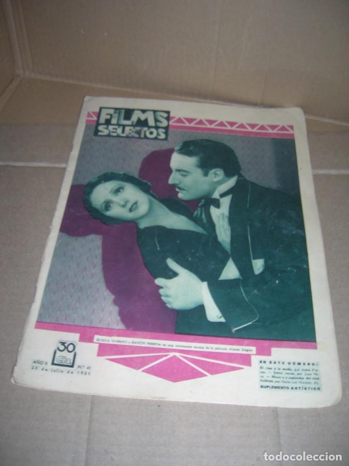 FILMS SELECTOS, Nº 41. JULIO 1931. ROSITA MORENO. RAMÓN PEREDA. IMPERIO ARGENTINA. ROSITA DÍAZ. ETC. (Cine - Revistas - Films selectos)