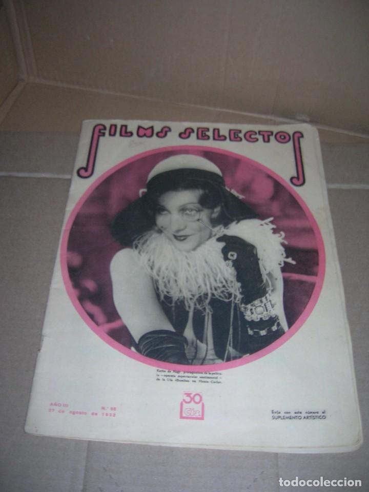 FILMS SELECTOS Nº 98. AGOSTO 1932. KATHE DE NAGY. STAN LAUREL Y OLIVER HARDY. SPENCER TRACY. ETC.... (Cine - Revistas - Films selectos)