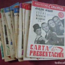 Cine: PUBLICACIONES CINEMA.75 CENTIMOS, AÑOS 40, 14 TÍTULOS DIFERENTES.. Lote 130860404