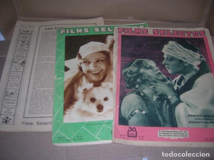 LOTE REVISTAS FILMS SELECTOS, Nº 44, Nº 74, Nº 127, Nº 136. AÑOS 1931-1932-1933. VER INTERIOR. (Cine - Revistas - Films selectos)