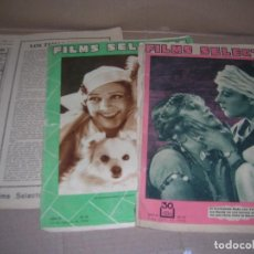 Cine: LOTE REVISTAS FILMS SELECTOS, Nº 44, Nº 74, Nº 127, Nº 136. AÑOS 1931-1932-1933. VER INTERIOR.. Lote 130861680