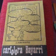 Cine: CARTELERA BAYARRI PORTADA HUMOR 1975. Lote 130922116