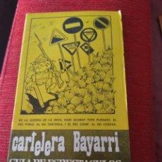 Cine: CARTELERA BAYARRI PORTADA HUMOR 1977. Lote 130922484