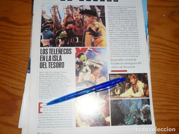 RECORTE PRENSA : LOS TELEÑECOS EN LA ISLA DEL TESORO. IMAGENES, JL-OGT1996 (Cine - Revistas - Imágenes de la actualidad)