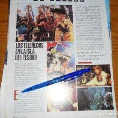Cine: RECORTE PRENSA : LOS TELEÑECOS EN LA ISLA DEL TESORO. IMAGENES, JL-OGT1996. Lote 131118452