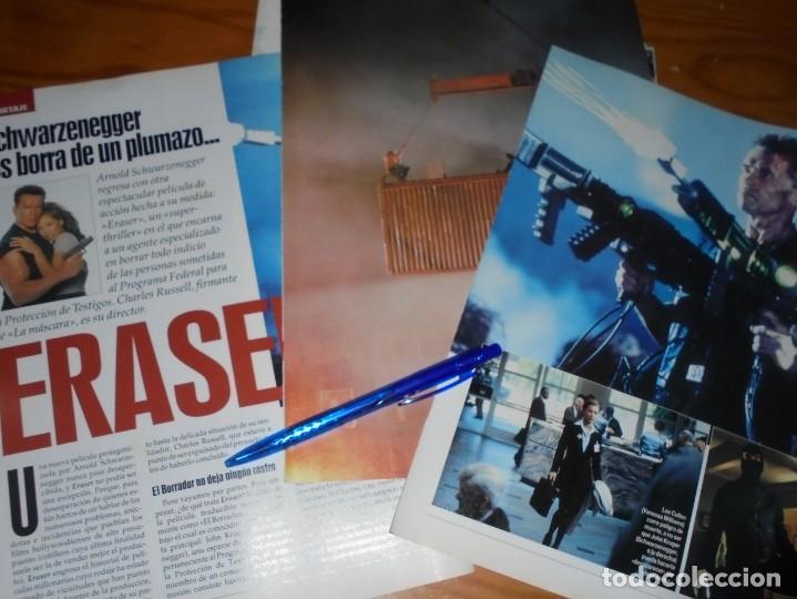 RECORTE PRENSA : REPORTAJE PELICULA: ERASER. ARNOLD SCHWAZENEGGER. IMAGENES, JL-OGT1996 (Cine - Revistas - Imágenes de la actualidad)