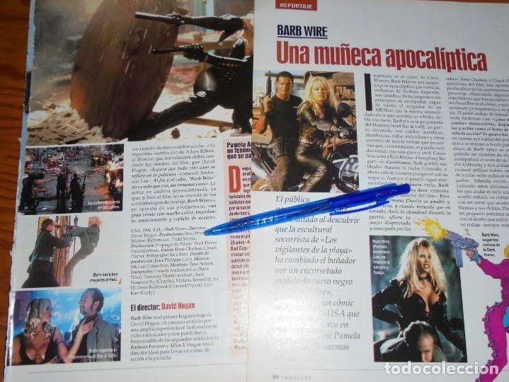 RECORTE PRENSA : REPORTAJE PELICULA: BARB WIRE. PAMELA ANDERSON. IMAGENES, JL-OGT1996 (Cine - Revistas - Imágenes de la actualidad)
