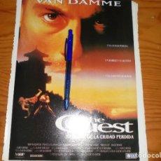 Cine: PUBLICIDAD PELICULA : THE QUEST. JEAN-CLAUDE VAN DAMME. IMAGENES, JL-OGT1996. Lote 131118916