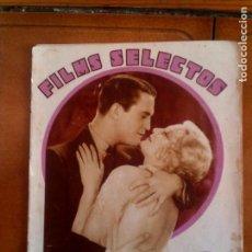 Cine: REVISTA FILMS SELECTOS N,78 DE 1932 . Lote 131167912