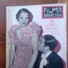 Cine: REVISTA FILMS SELECTOS N,166 AÑO 1933 . Lote 131168028