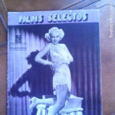 Cine: REVISTA FILMS SELECTOS N,244 DE 1935. Lote 131168844