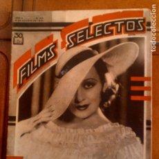 Cine: REVISTA FILMS SELECTOS N,208 DE 1934. Lote 131169284