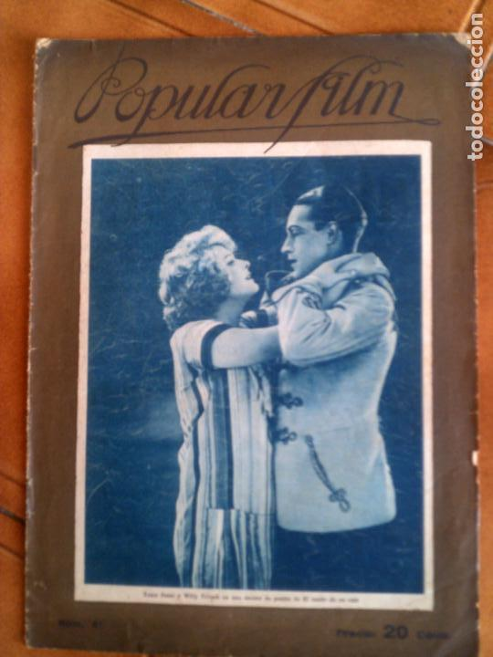 REVISTA POPULAR FILM N,41 DE 1927 (Cine - Revistas - Popular film)