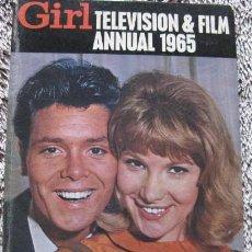 Cine: GIRL TELEVISION & FILM ANNUAL 1965. Lote 131221760