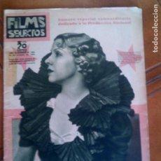 Cine: REVISTA FILMS SELECTOS N, 262 DE 1935. Lote 131222228