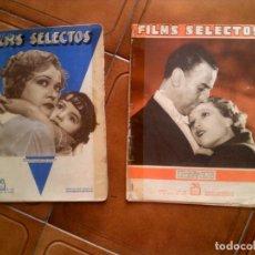 Cine: LOTE DE DOS REVISTAS FILM SELECTOS N, 136 , 140 . Lote 131222576