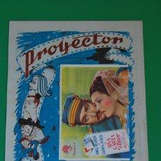 Cine: PROYECTOR - NOTICIARIO DE CINE Y TEATRO - REVISTA - SANTANDER - MAYO 1948 - PROGRAMA EN PORTADA. Lote 131279531