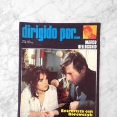 Cine: DIRIGIDO POR - Nº 43 - 1977 - MARCO BELLOCCHIO, GEORGE CUKOR, WALERIAN BOROWCZYK. Lote 131279903
