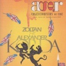 Cine: CINE: REPRODUCCIÓN DE CARTELES. REVISTA AGOR. COLECCIONISTAS DE CINE Nº 29. 2006. Lote 131428146