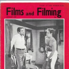 Cine: FILMS & FILMING - AGOSTO 1958. Lote 131435870