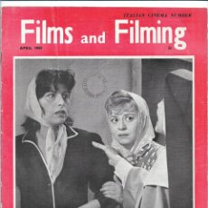 Cine: FILMS & FILMING - ABRIL 1959. Lote 131436850