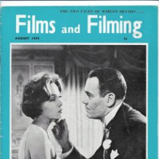 Cine: FILMS & FILMING - AGOSTO 1959. Lote 131437118