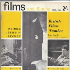 Cine: FILMS & FILMING - ABRIL 1964. Lote 131437566