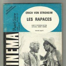 Cine: REVISTA CINEMA 1968 - NUMERO EXCEPTIONNEL 83-84, LES RAPACES - ERICH VON STROHEIM- FRANCE. Lote 131494070