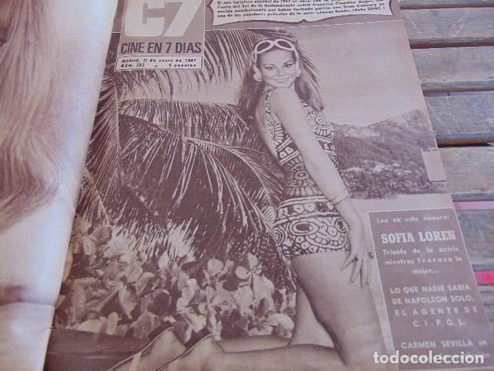 Cine: TOMO ENCUADERNADO DE LA REVISTA CINE EN 7 DIAS AÑO 1967 26 REVISTAS - Foto 2 - 131788186