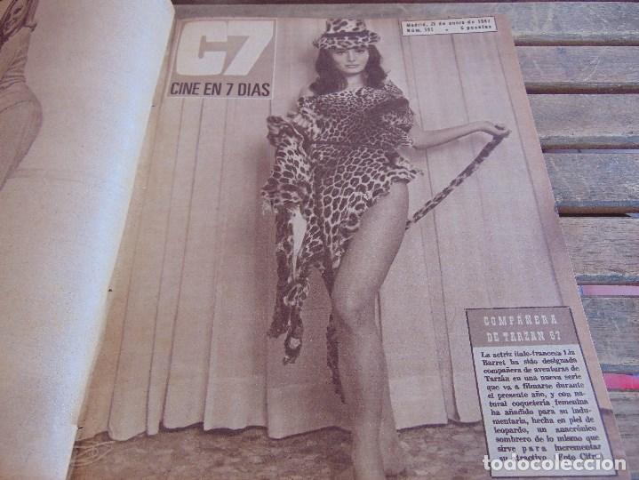 Cine: TOMO ENCUADERNADO DE LA REVISTA CINE EN 7 DIAS AÑO 1967 26 REVISTAS - Foto 3 - 131788186