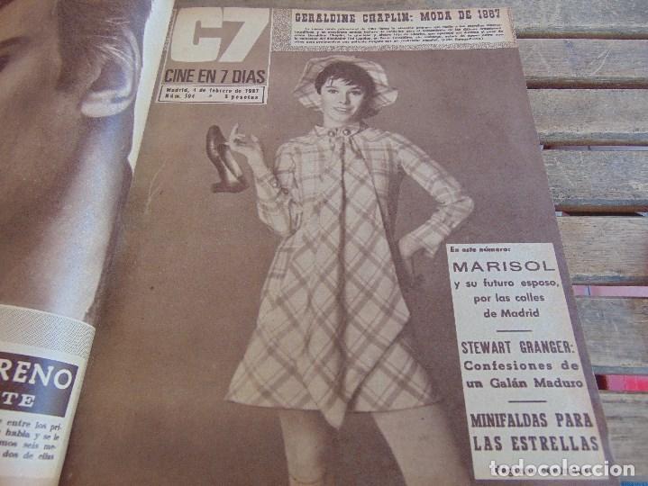 Cine: TOMO ENCUADERNADO DE LA REVISTA CINE EN 7 DIAS AÑO 1967 26 REVISTAS - Foto 4 - 131788186